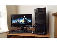 High Spec Fast Gaming PC Core i3-4160 Microsoft Windows 10 8GB RAM 1TB Hard Drive