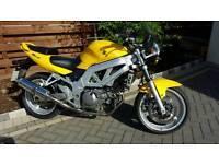 Suzuki sv 650 yellow