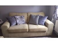 3 seater sofa and armchair,only 2 months old.