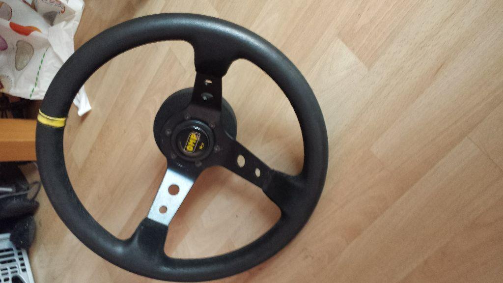 Omp Deep Dish Steering Wheel With Boss Hub E30 E36 E46 3