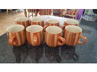 DENBY mugs x 8