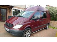 Mercedes Vito Diesel 2 berth campervan conversion 55 reg High roof LWB Low milage