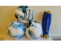 NEW 3 FOOT BALLS & 1 KOOKABURRA PAD SMALL SIZE