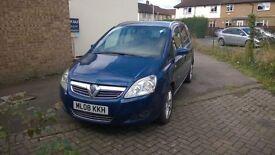 Blue Vauxhall zafira 2008 1.9cdti