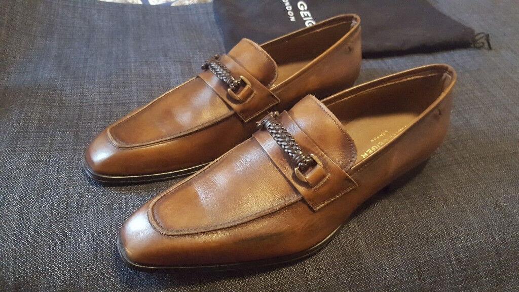 226c05ec059 Brand NEW Mens Kurt Geiger Dark Brown Leather Loafer Slip On Shoes UK 11 EU  45