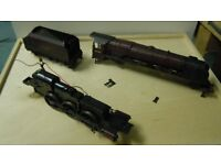 HORNBY CORONATION CLASS OO GAUGE LOCOMOTIVE RESTORATION PROJECT OR FOR SPARES AND REPAIR