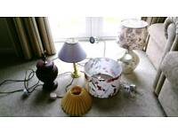 4 Table Lamps. Bed side, desk lights. 1 New, 3 used. Perfect condition. Job lot.