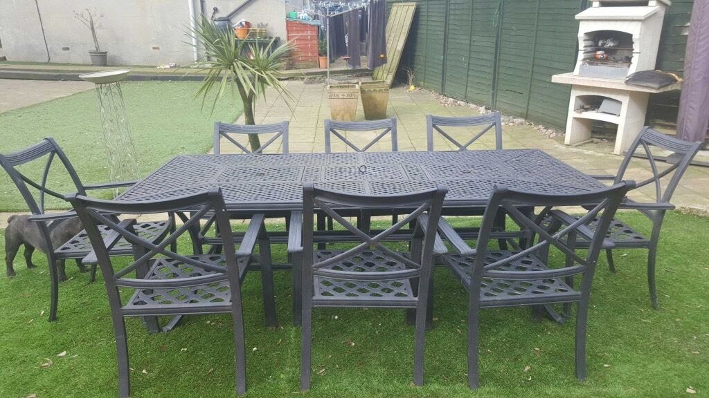 jamie oliver 8 seater fire pit garden table set in