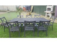 Jamie Oliver 8 seater fire pit garden table set