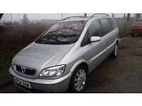 VAUXHALL ZAFIRA 7 SEATER,ELEGANCE DTI DIESEL,5 SPEED,MOT MAY,E/ROOF,CLEAN COND.,EXC.DRIVER,HPI CLEAR