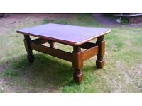 Coffee table. Low occasional table. Wood