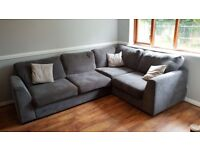 Dark Grey Corner Sofa. As new!