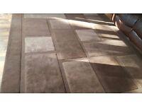 Brown rug/brow square and rectangular shape rug