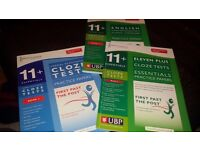 11+ Comprehension and Cloze test books (11 Plus)