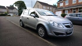Car is in Lanark! 2009 diesel 5 door silver Vauxhall Corsa, MOT until August 2018