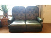 La-z-boy 2-seater manual recliner leather sofa
