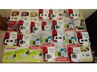 MEMORY CARDS - USB STICKS - 8, 16, 32, 64, 128GB - JOBLOT APPROX