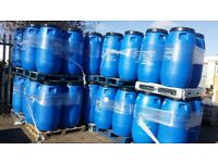 PLASTIC BARRELS 290 LTRS FOR SALE CALL US ON 0 7 4 7 7 6 1 9 8 1 1 TO ORDER OR ARRANGE COLLECTION