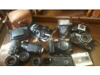 Retro cameras and lenses