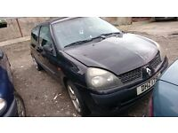 2002 RENAULT CLIO EXPRESSION, 1.5 DCI, BREAKING FOR PARTS ONLY, POSTAGE AVAILABLE NATIONWIDE