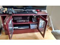 MUST GO :: TV Table with glass doors in excellent condition.