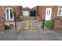 Iron driveway gates - Main and side double gates £130 collection only