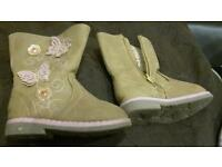 Primark soft bootswith butterly motifs