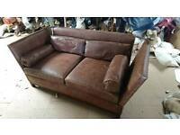 Brown leather sofa 3 seater new