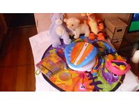 Bundle of baby toys including Lamaze Tummy Time Playmat