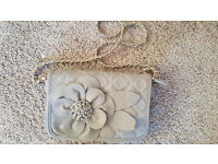 Ladies grey evening handbag