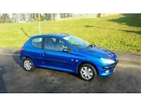 PEUGEOT 206 1.1 .40000 MILEs FROM NEW. 1 YEARS MOT.