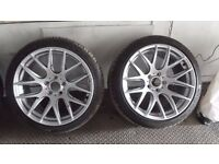 """3SDM Set of 4 Alloys 18"""" newly refurbished with tyres"""