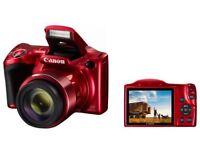 CANON POWERSHOT SX420 20mp 42 x zoom bridge camera -red NEW
