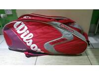 Willson factor tour tenis bag in used condition all zips working!can deliver or post!