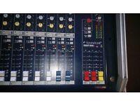Soundcraft 12 channel mixing desk and flightcase