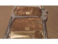 Brand new Laura Ashley matching bag set of 3 items in beige and gold