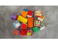Baby's soft fabric building blocks by Juguettos