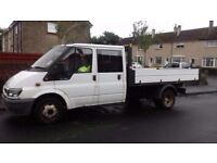 Man and Van. Tipper truck and driver. Collection, delivery, waste removal and demolition.
