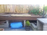 Decking Wood. In Mature condition