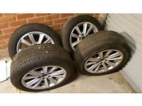 GENUINE BMW 5 SERIES F10 17 INCH ALLOYS WITH TYRES