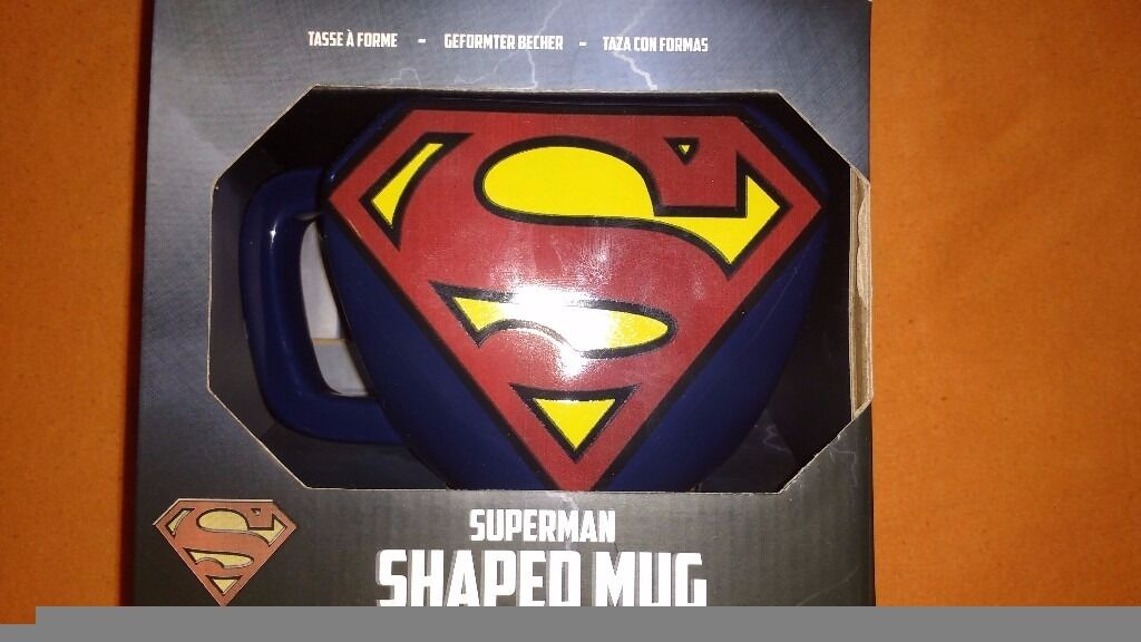 Superman Shaped Mugin Southside, GlasgowGumtree - Superman Shaped Mug Brand new, unopened/sealed. Large mug branded with Supermans iconic logo. See pictures provided. Price £4 Serious enquiries only please. Looking for quick/immediate sale. If interested dont hesitate. Will endeavour to reply...