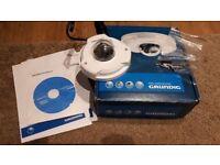 GRUNDIG 1080P Full HD Flat Fixed Dome CCTV IP / Network 2MP PoE Camera / SD Card