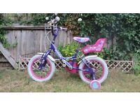 Girls Bike Raleigh with Side Wheels