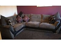 Ex sterling grey chord design corner sofa