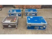 4 Vintage Retro Aeroplane Cases Storage Strong Instrument Amplifier Mixing Desk