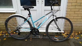 Dawes Discovery hybrid: 18in (medium) alloy frame, 21spd, mudguards, etc. PWO