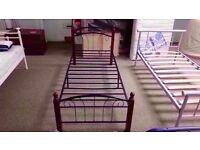 BRAND NEW IN BOX!! vienna bed frame metal frame single bed also has wooden bedposts