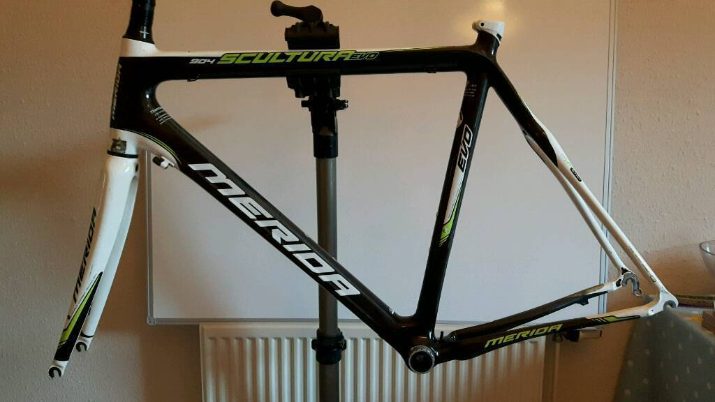 merida scultura evo 904 carbon road bike frame fork and bb 58cm large frame
