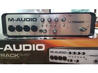 M-Audio M-Track Quad, 4-input 4-output USB Audio Interface
