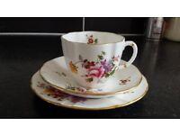 Royal Crown Derby Posies Tea Cup Saucer Tea Plate Trio